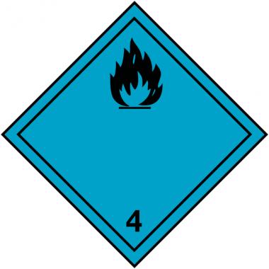 """Etiquettes de signalisation de transport international """"Dégage du gaz inflammable au contact de l'eau"""""""
