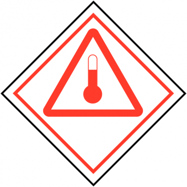 """Etiquettes de signalisation de transport international """"Produits chauds"""""""