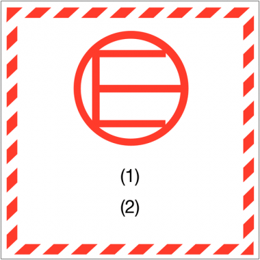 """Etiquettes de signalisation de transport international """"Quantité exceptée"""""""