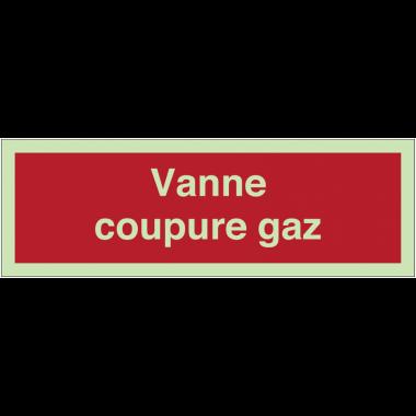Panneaux de sécurité incendie photoluminescents - Vanne coupure gaz