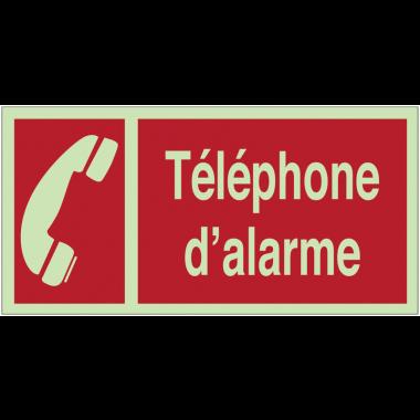 """Panneaux d'incendie photoluminescents """"Téléphone à utiliser en cas d'incendie"""" avec texte"""