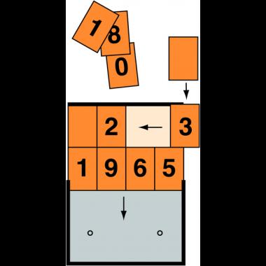 Plaque orange à chiffres interchangeables pour le transport de matières dangereuses