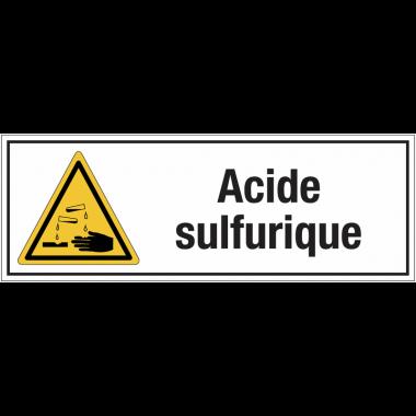"""Panneaux pour stockage de bouteille de gaz """"Danger, substances corrosives - Acide sulfurique"""""""