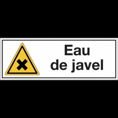 """Panneaux pour stockage de bouteille de gaz """"Matières nocives ou irritantes - Eau de javel"""""""