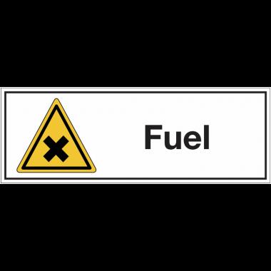 """Panneaux pour stockage de bouteille de gaz """"Matières nocives ou irritantes - Fuel"""""""