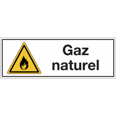 """Panneaux pour stockage de bouteille de gaz """"Danger matières inflammables - Gaz naturel"""""""