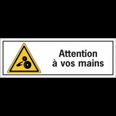 Etiquettes de sécurité - Attention à vos mains