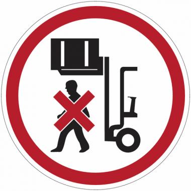 """Panneaux d'interdiction """"Ne pas stationner sous la charge"""""""