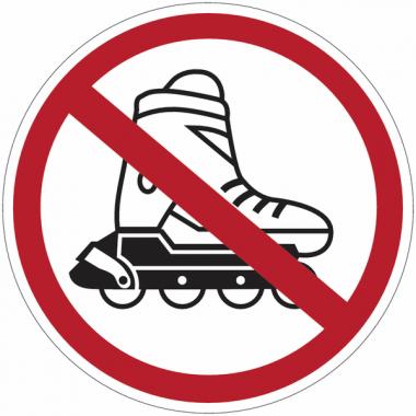 """Panneaux d'interdiction """"Interdit aux rollers"""""""