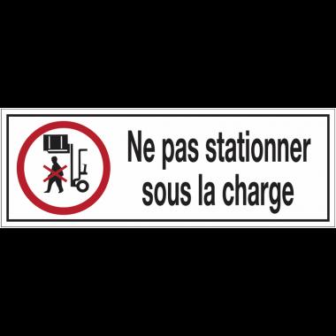 Panneaux d'interdiction rectangulaires - Ne pas stationner sous la charge