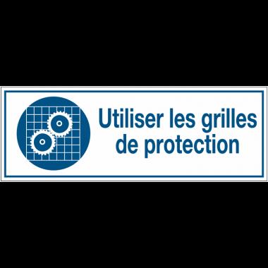 Panneaux d'obligation rectangulaires- Utiliser les grilles de protection