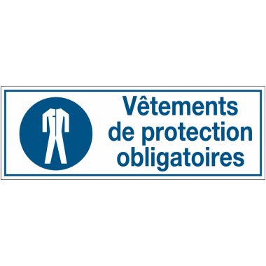 Panneaux d'obligation rectangulaires - Vêtements de protection obligatoires