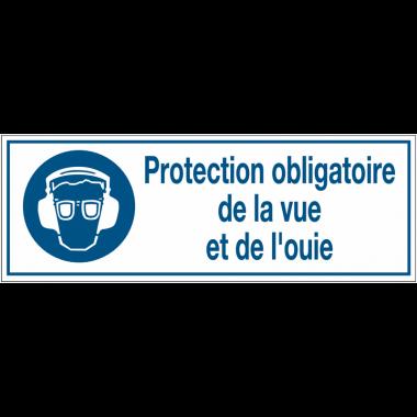 Panneaux d'obligation rectangulaires - Protection obligatoire de la vue et de l'ouïe