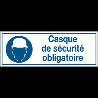 Panneaux d'obligation rectangulaires - Casque de sécurité obligatoire