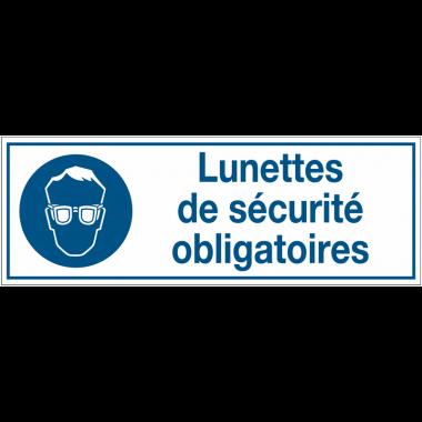 Panneaux d'obligation rectangulaires - Lunettes de sécurité obligatoires