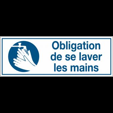Panneaux d'obligation rectangulaires - Obligation de se laver les mains