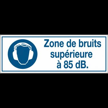 Panneaux d'obligation rectangulaires - Zone de bruits supérieure à 85 dB