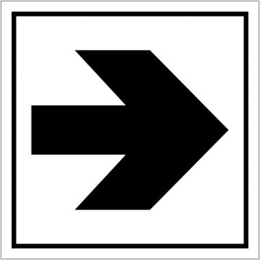 "Pictogrammes d'information standards ""Flèche directionnelle 90°"""