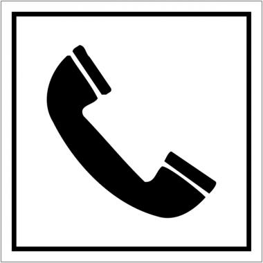 """Pictogrammes d'information standards """"Téléphone"""""""