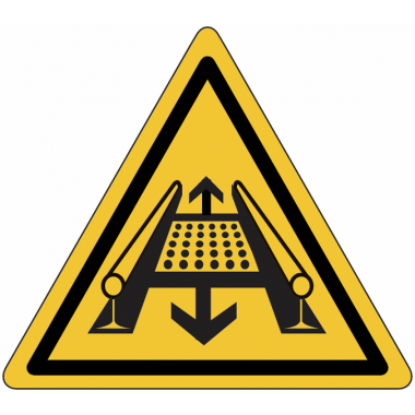 "Panneaux de danger ""Attention, installation rotative"""