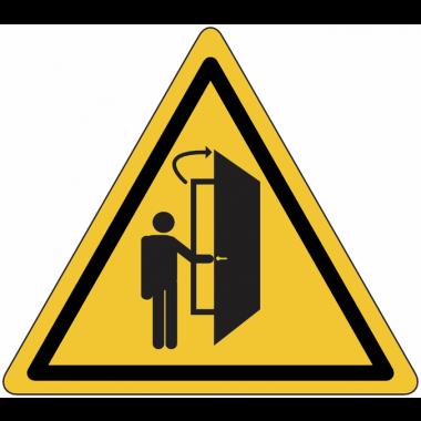 """Panneaux de danger """"La porte s'ouvre vers votre direction"""""""