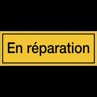 Panneaux de danger avec message - En réparation