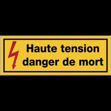 Panneaux de danger électrique rectangulaires - Haute tension danger de mort