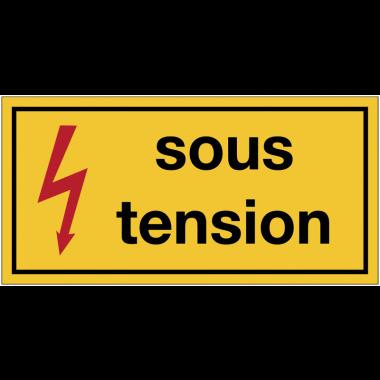 """Panneaux de danger électrique rectangulaires - """"Danger électricité - sous tension"""""""