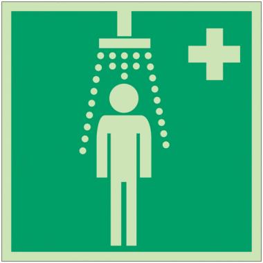 """Panneaux d'évacuation et de secours """"Douche de sécurité"""""""