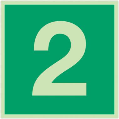 """Panneaux d'évacuation et de secours """"Niveau, étage 2"""""""