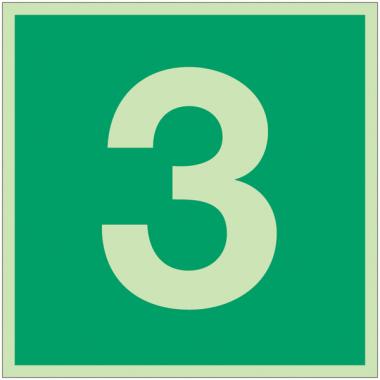 """Panneaux d'évacuation et de secours """"Niveau, étage 3"""""""