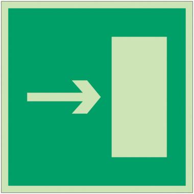 """Panneaux d'évacuation et de secours """"Issue de secours, flèche directionnelle à droite ou à gauche"""""""