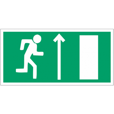 """Panneaux d'évacuation et de secours """"Homme qui court à droite, flèche en haut"""""""