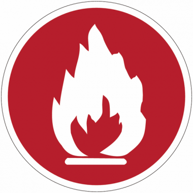 """Panneaux de sécurité et incendie circulaires """"Inflammable"""""""