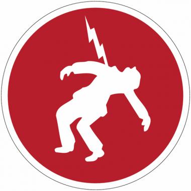 """Panneaux de sécurité et incendie circulaires """"Danger haute tension"""""""
