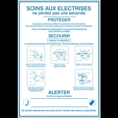 Affichage obligatoire à compléter - Soins aux électrisés