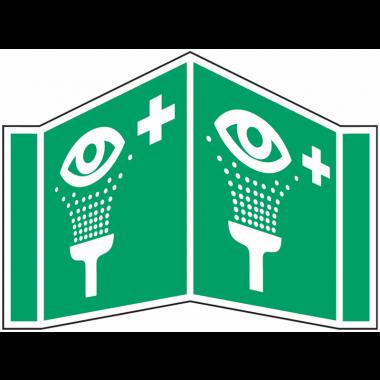 """Panneaux en drapeau et tridimensionnels """"Equipement de rinçage des yeux"""""""