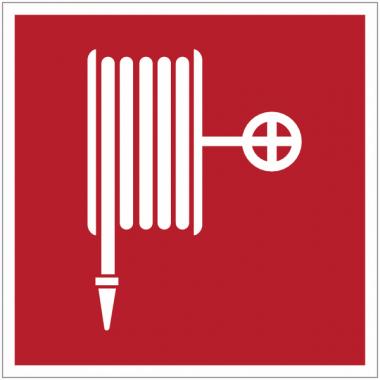 """Panneaux en drapeau et tridimensionnels """"Robinet d'incendie armé"""""""