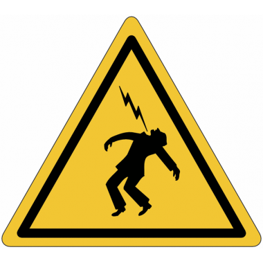"Mini-pictogrammes ""Danger haute tension"" en rouleau"