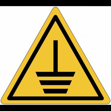 """Mini-pictogrammes de danger """"Mise à la terre"""" en rouleau"""