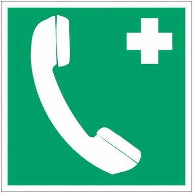 """Mini-pictogrammes d'évacuation """"Téléphone d'urgence"""" en rouleau"""
