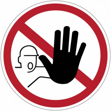 """Mini-pictogrammes d'interdiction """"Accès interdit aux personnes non autorisées"""" en rouleau"""