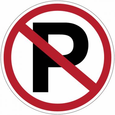 """Mini-pictogrammes d'interdiction """"Parking interdit"""" en rouleau"""