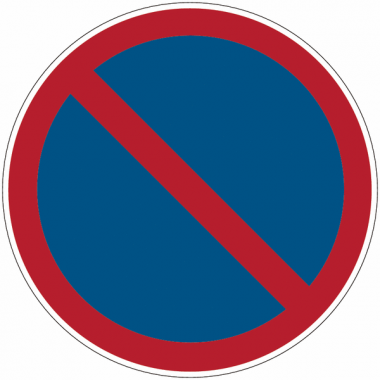 """Mini-pictogrammes d'interdiction """"Stationnement interdit"""" en rouleau"""