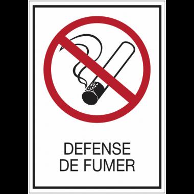 Panneaux de signalisation de sécurité standards - Défense de fumer