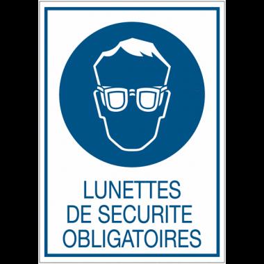 Panneaux de signalisation de sécurité standards - Lunettes de sécurité obligatoires