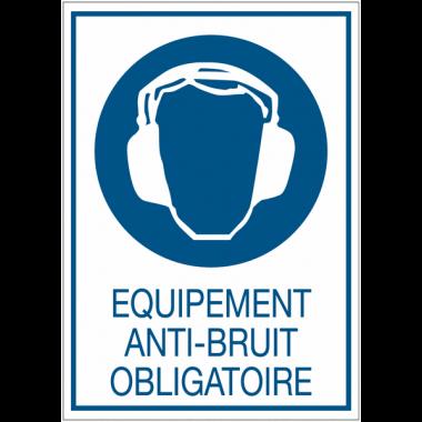 Panneaux de signalisation de sécurité standards - Equipement anti-bruit obligatoire