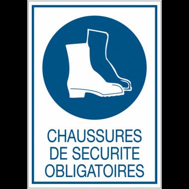 Panneaux de signalisation de sécurité standards - Chaussures de sécurité obligatoires