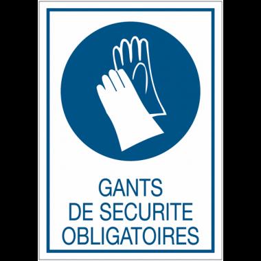 Panneaux de signalisation de sécurité standards - Gants de sécurité obligatoires