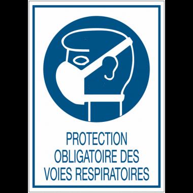Panneaux de signalisation de sécurité standards - Protection obligatoire des voies respiratoires